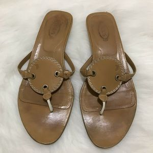 Tod's Light Brown Mules Slides Size 8.5